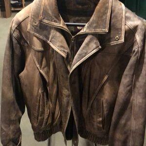 Wilson's Leather men's bomber jacket